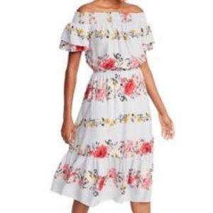 Old Navy Off The Shoulder Floral Dress